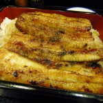 Ginza : Inexpensive eel box at Hyotan-ya (ひょうたん屋)