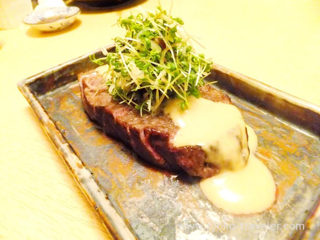 Grilled Japanese black wagyu with sesami sauce, Ginza Shimada (GInza)