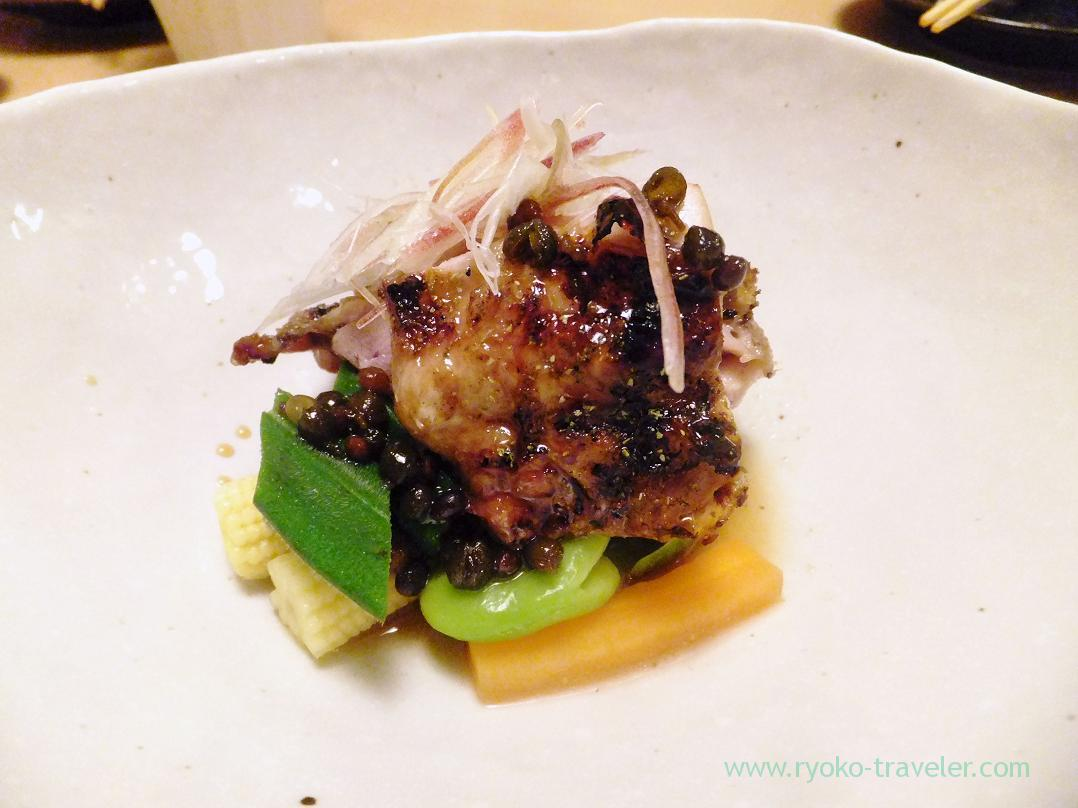 Grilled quails with sichuan pepper, Ginza Shimada (Ginza)
