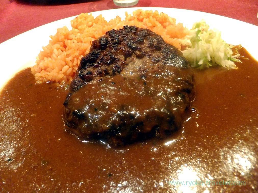 Humburger of Curry with humburger, Lecrin (Ginza)