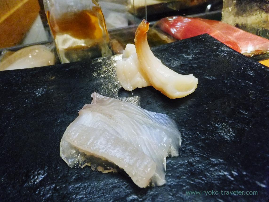 Pacific gaper from Aichi and marbled sole from Tokyo, Miyakozushi (Bakuro Yokoyama)
