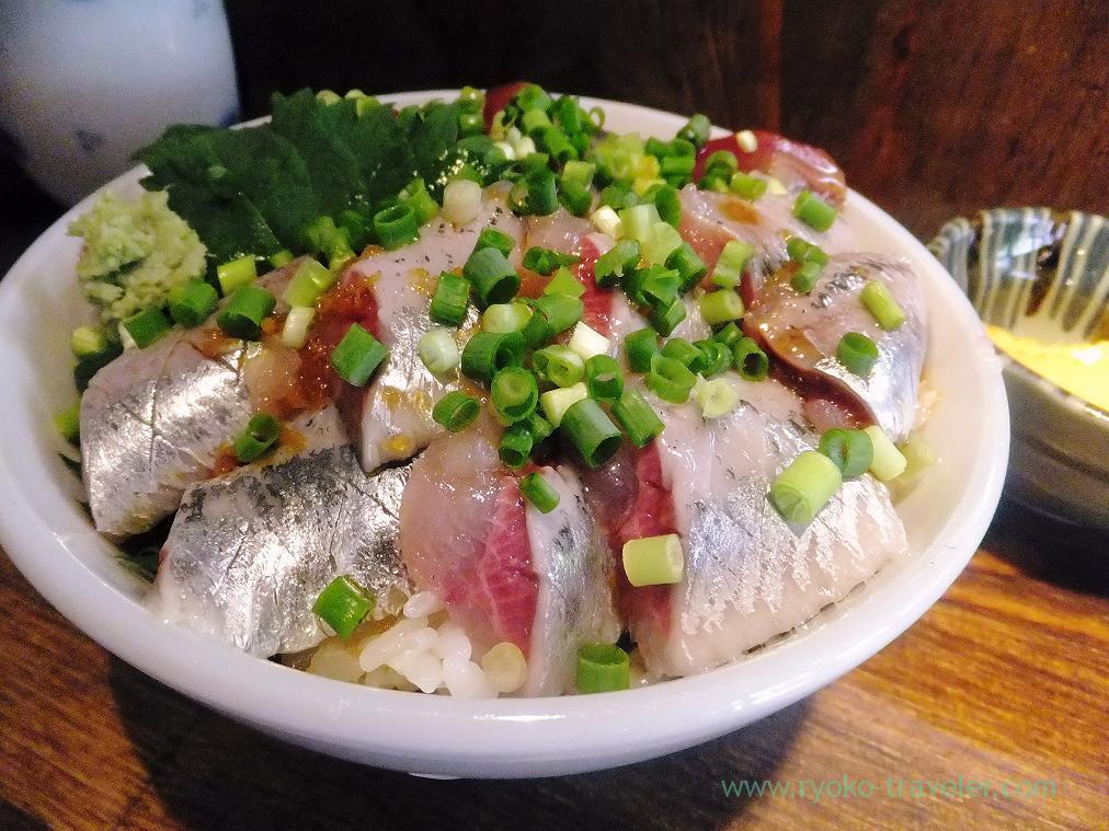 Sardine side of two species sashimi bowl, Hajime Sengyo-ten (Tsukiji)