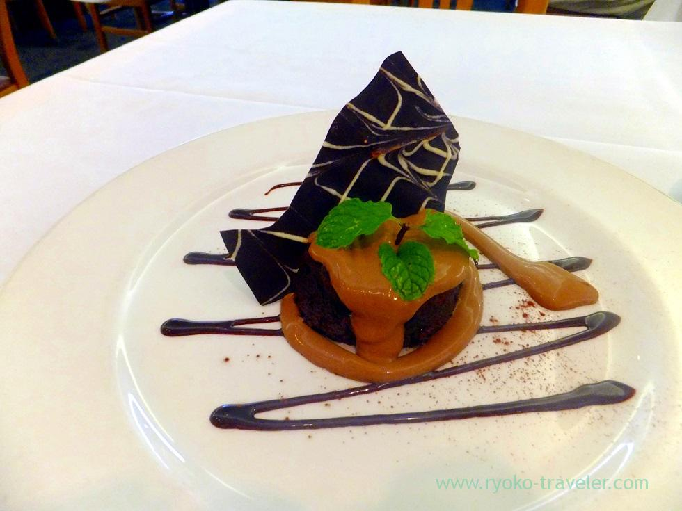 Warm chocolate souffle cake, 3660 on the rise, kaimuki, Honolulu 2014, Hawaii