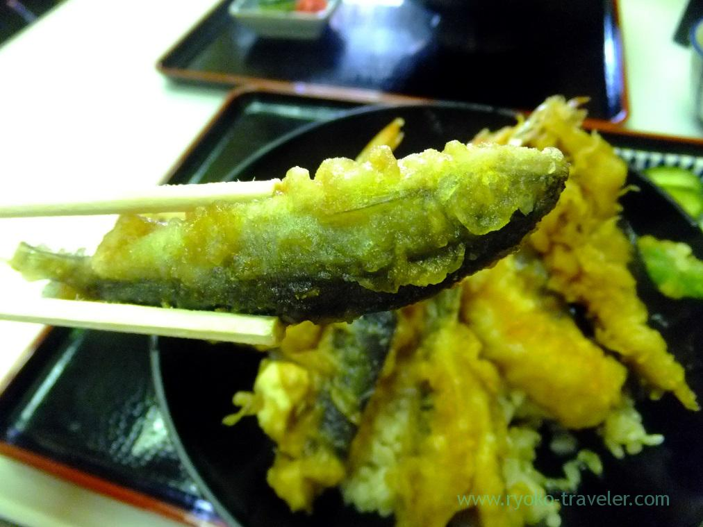 Young sweetfish of Tendon, Tenfusa (Tsukiji Market)