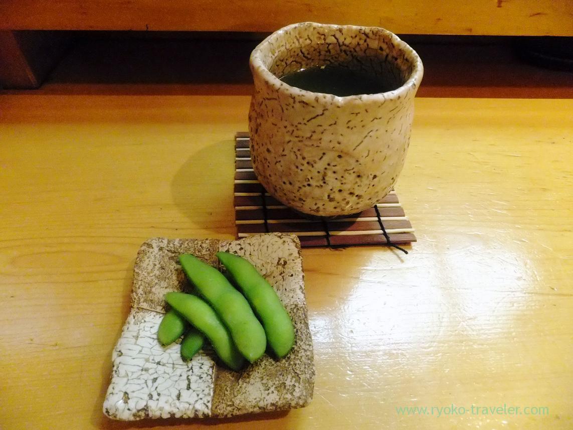 Green soy beans and green tea, Miyakozushi (Bakuro-Yokoyama)