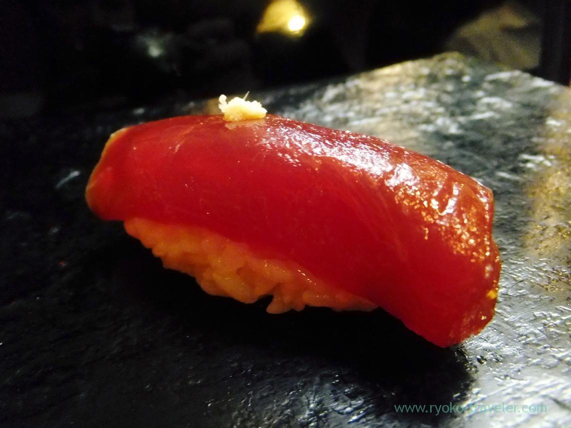 Marinated tuna with soy sauce, Miyakozushi (Bakuro-Yokoyama)