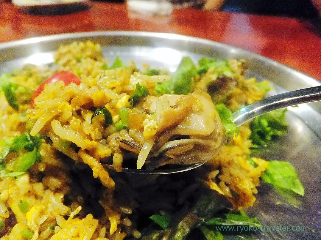 Fried rice with oysters,Kamal pool (Kiba)