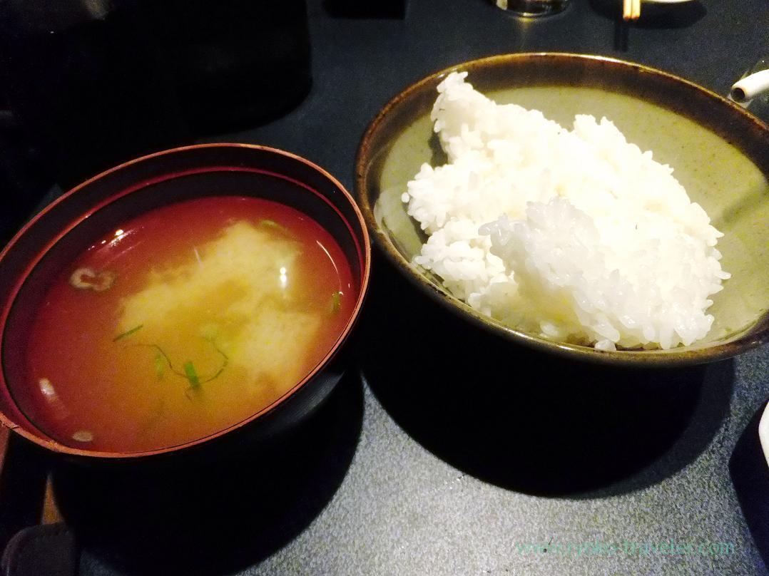 Rice and miso soup, Kashigashira (Tsukiji)