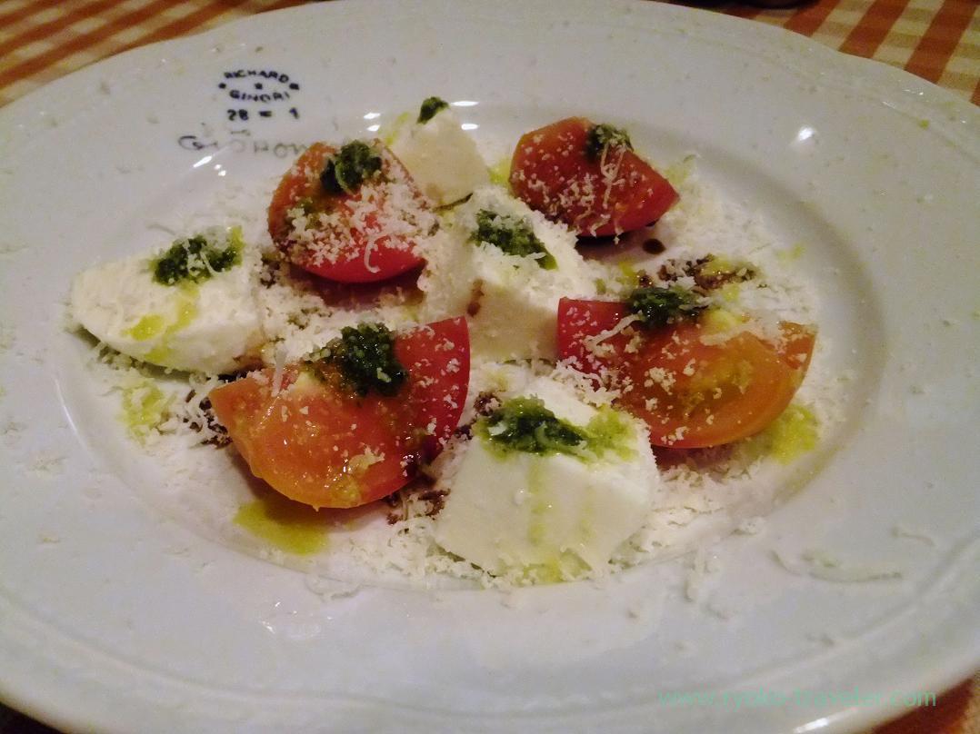 Tomatoes and mozzarella, Yamagishi Shokudou (Ginza)