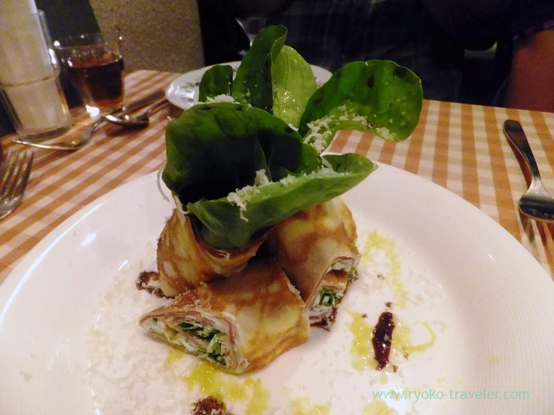 Uncured ham and cheese repe roll, Yamagishi Shokudou (Ginza)