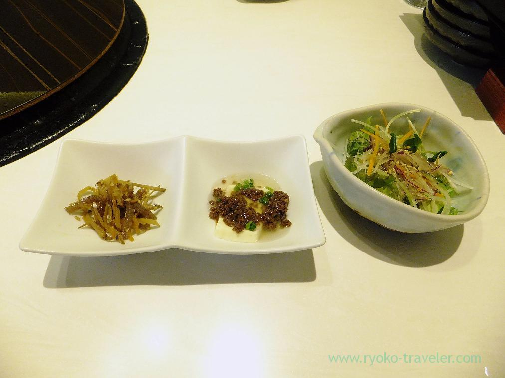 Appetizer and salad, Syotaian Hanare (Funabashi)