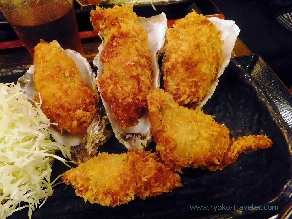 Deep fried oyster, Hokkaido Akkeshi Nihonbashi-honten (Nihonbashi)