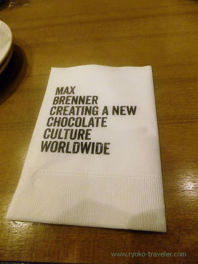 Paper, MAX BRENNER CHOCOLATE BAR (Oshiage)
