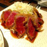 Tsukishima : Yamagata beef cutlet at Yamagatayama (山形山 月島店)