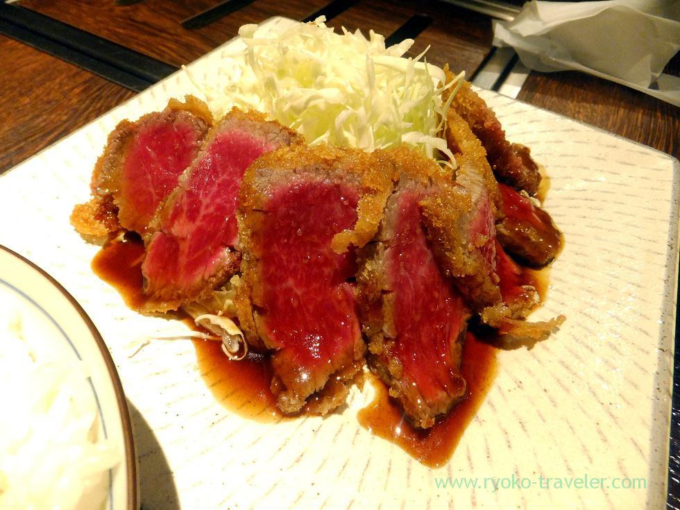 Beef cutlet, Yamagatayama Tsukishima branch (Tsukishima)