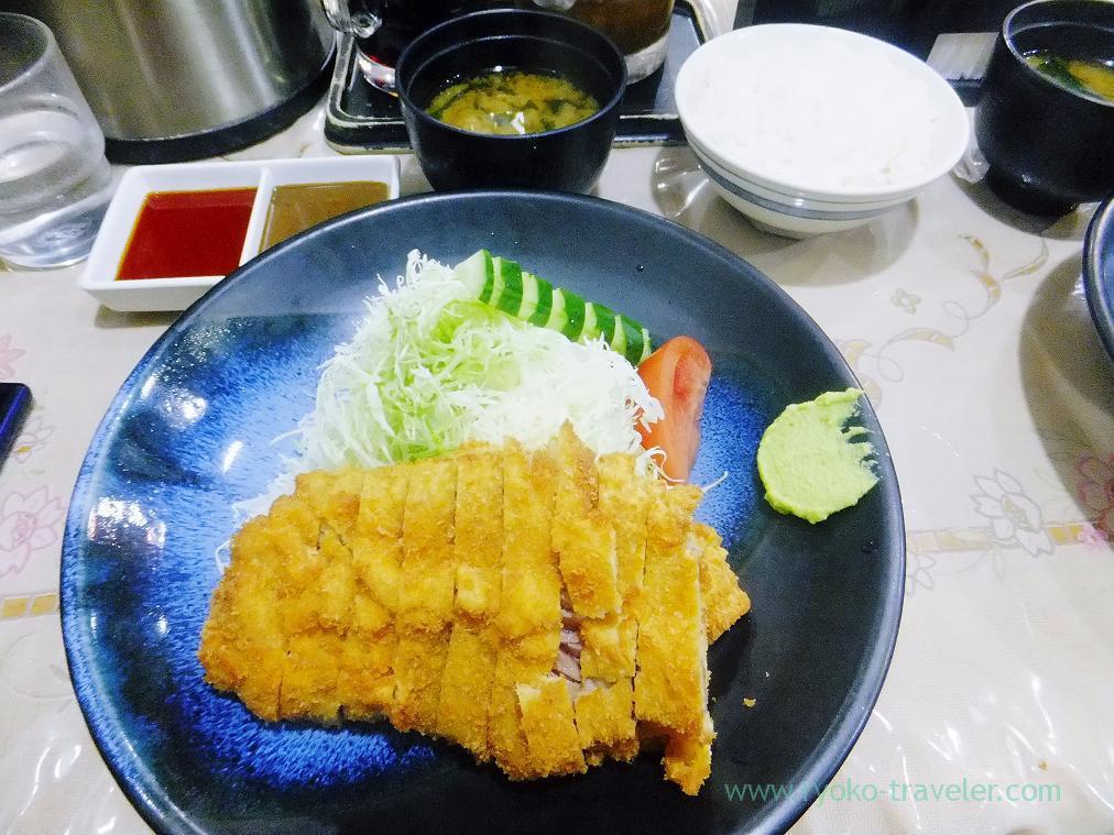 Beef cutlet set, beef cutlet Okada (Shinbashi)