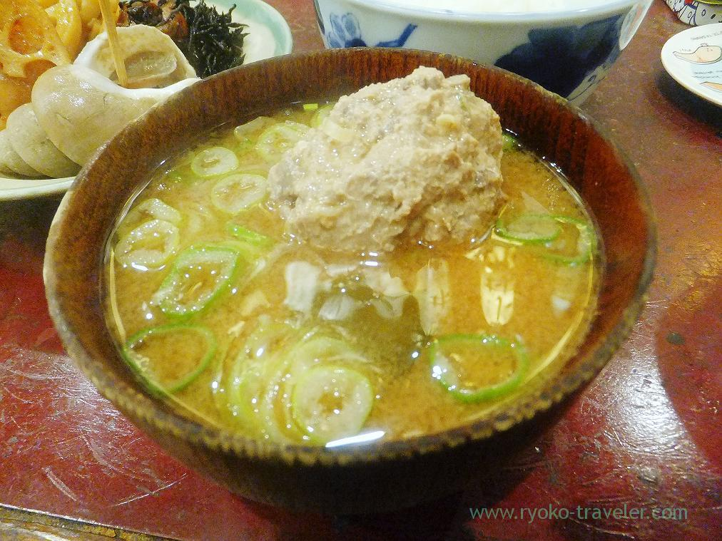 Miso soup with sardine ball and soft roe, Yonehana (Tsukiji Market)