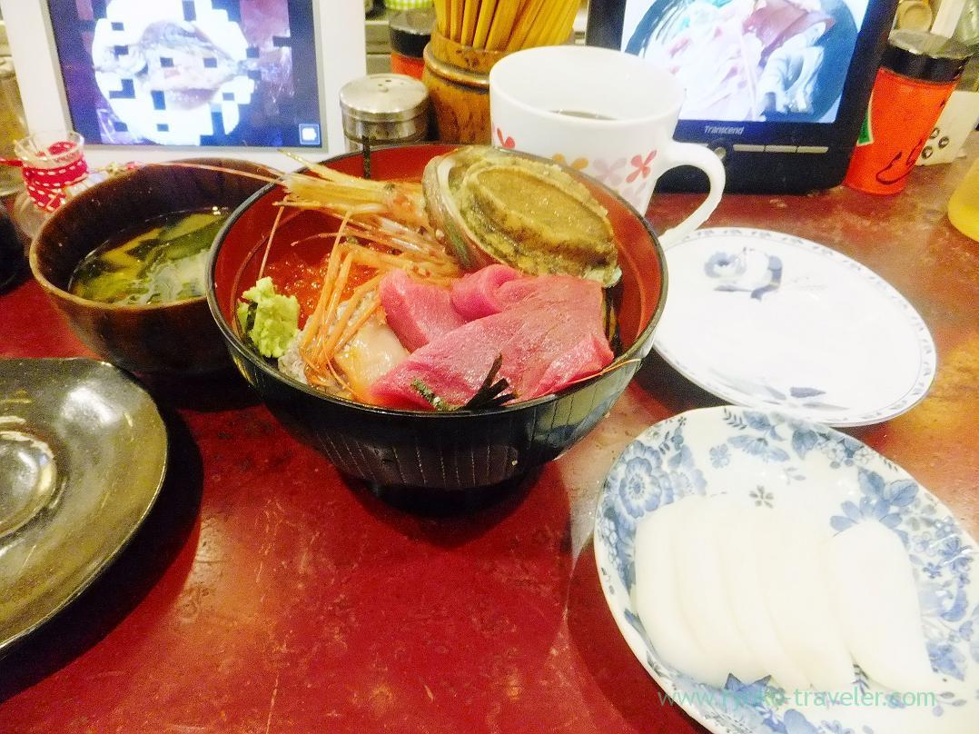 Sashimi bowl set, Yonehana (TSukiji Market)