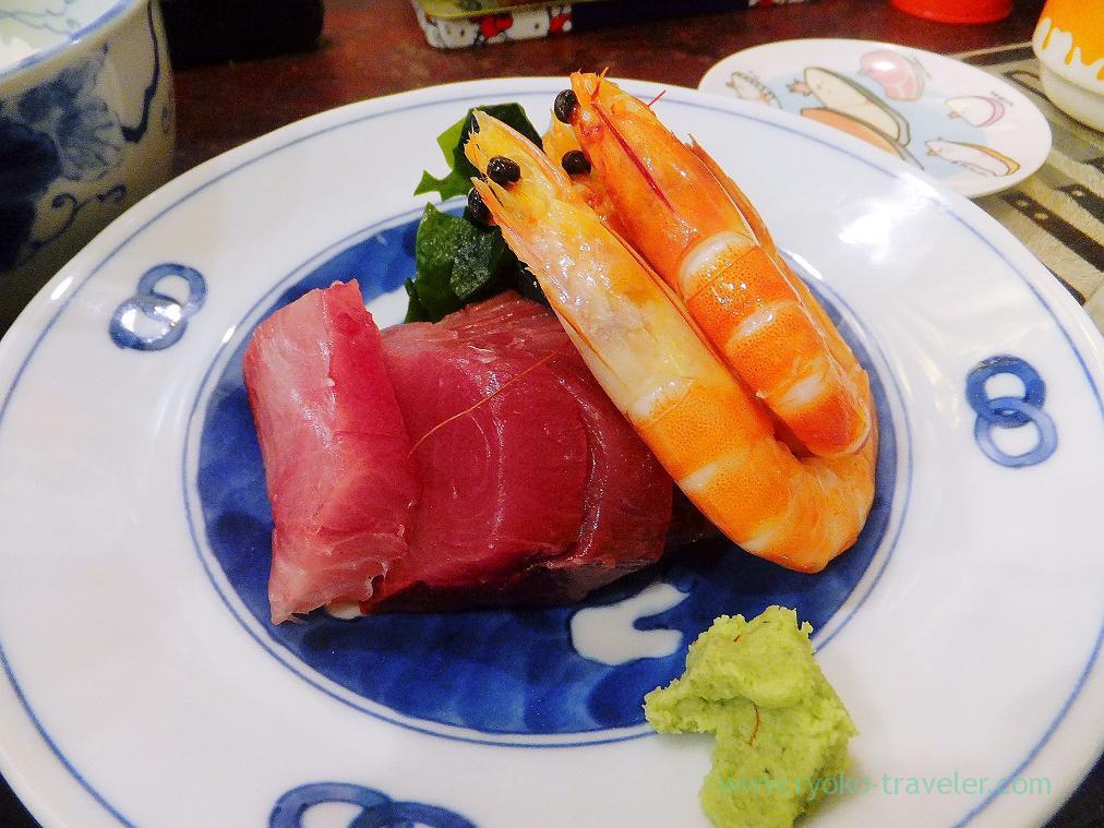 Shrimp and yellowtail, Yonehana (Tsukiji Market)