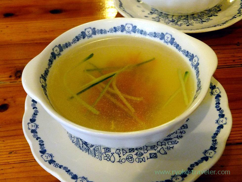 consomme soup, Petit restaurant Hut (Shimousa Nakayama)