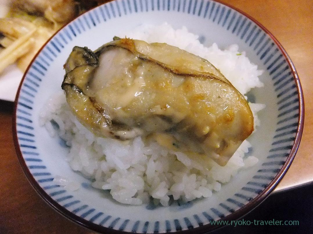 Fried oyster on the rice, Odayasu (Tsukiji Market)