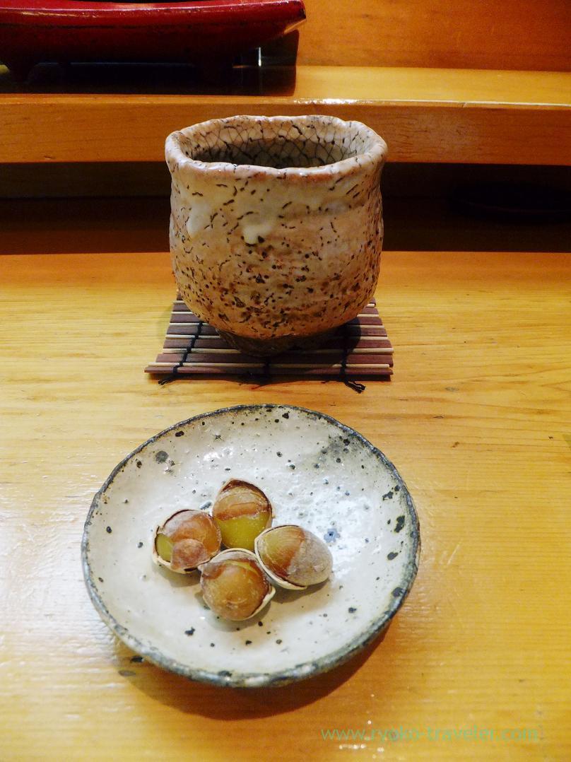 Ginkgo nut and green tea, Miyakozushi (Bakuro-Yokoyama)