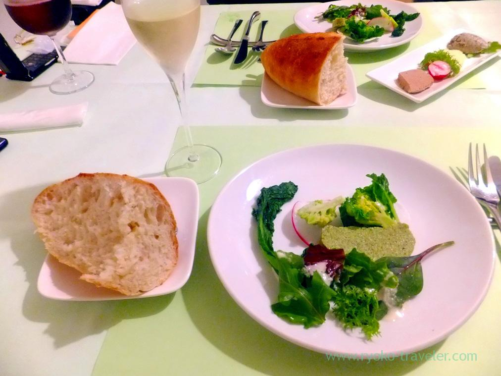 terrine, paste, bread and sparkling wine, Percii (Ginza)