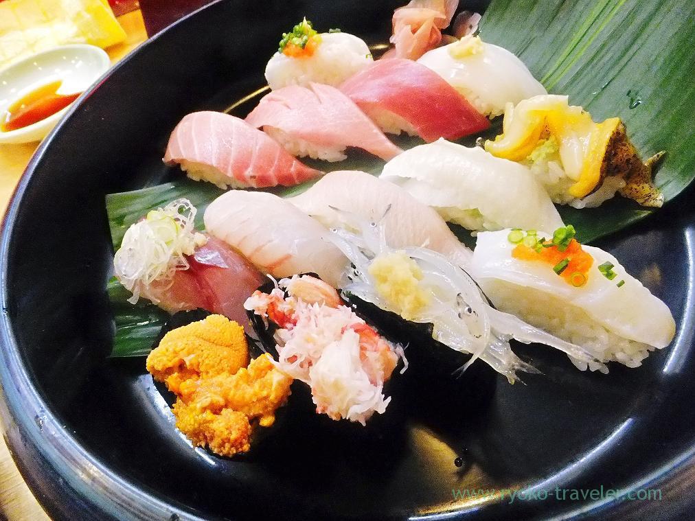 14 pieces of sushi set, Kaisyo-zushi (Shimousa Nakayama)