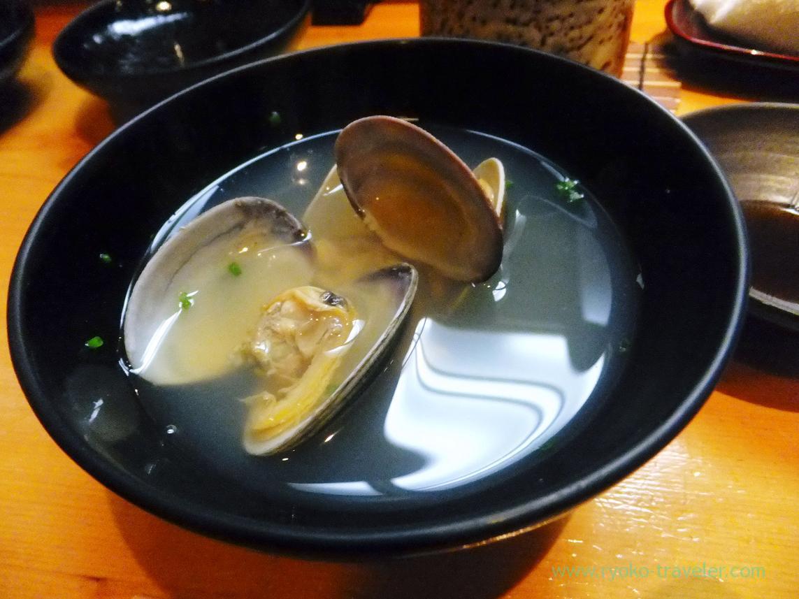 Asari clam soup, Miyakozushi (Bakuro-Yokoyama)