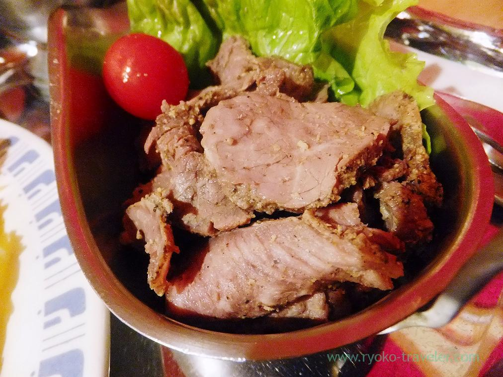 Cold lamb meat, Curry restaurant Shiba (Inage)