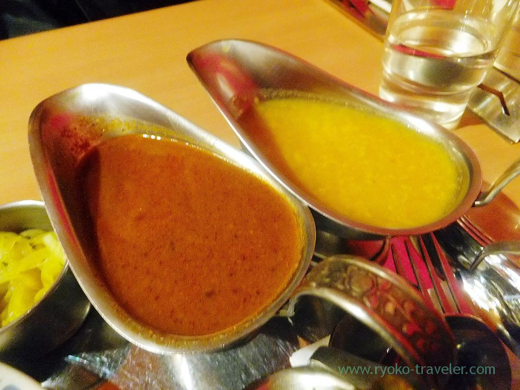 Daal and lamb curry, Curry restaurant Shiba (Inage)
