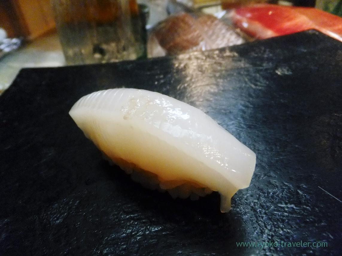 Golden cuttlefish or sumiika, Miyakozushi (Bakuro-Yokoyama)