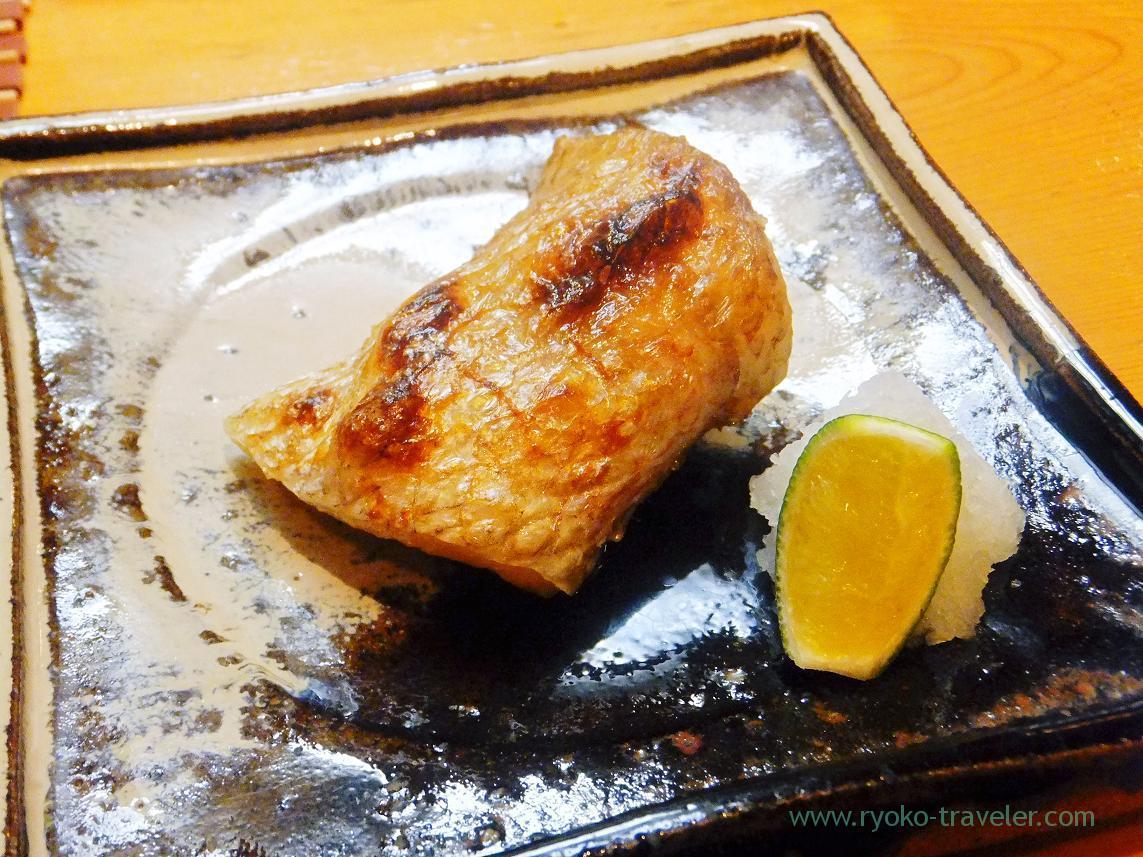 Grilled blackthroat seaperch nor nodoguro, MIyakozushi (Bakuro^Yokoyama)