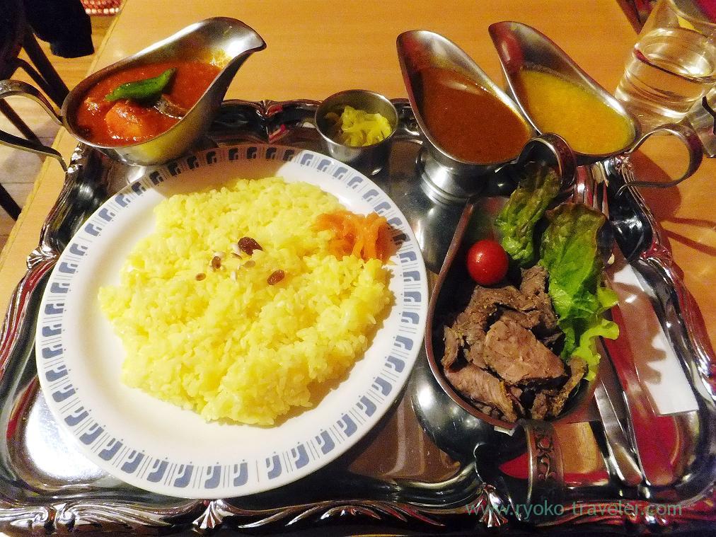 Lamb set, Curry restaurant Shiba (Inage)