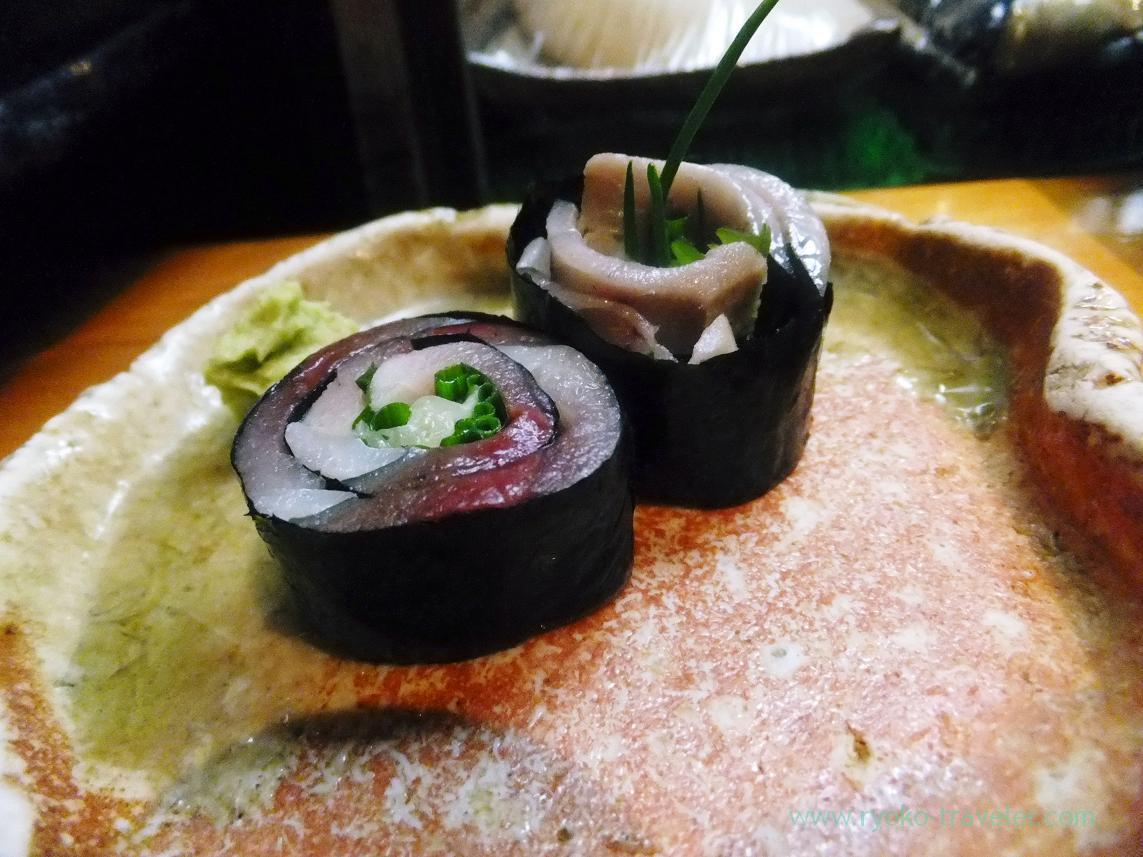 Mackerel roll or saba roll, Miyakozushi (Bakuro-Yokoyama)
