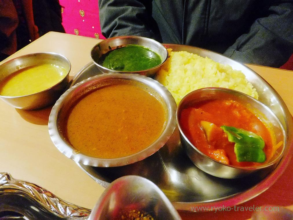 Service thali, Curry restaurant Shiba (Inage)