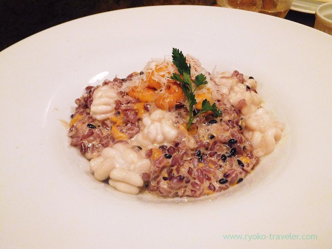 Creamy risotto with soft roe and sea urchin, Hachijuro Shoten (Funabashi)