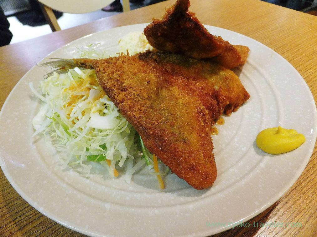 Deep fried horse mackerel, Nippon Gyoko Shokudo (Tsukiji)