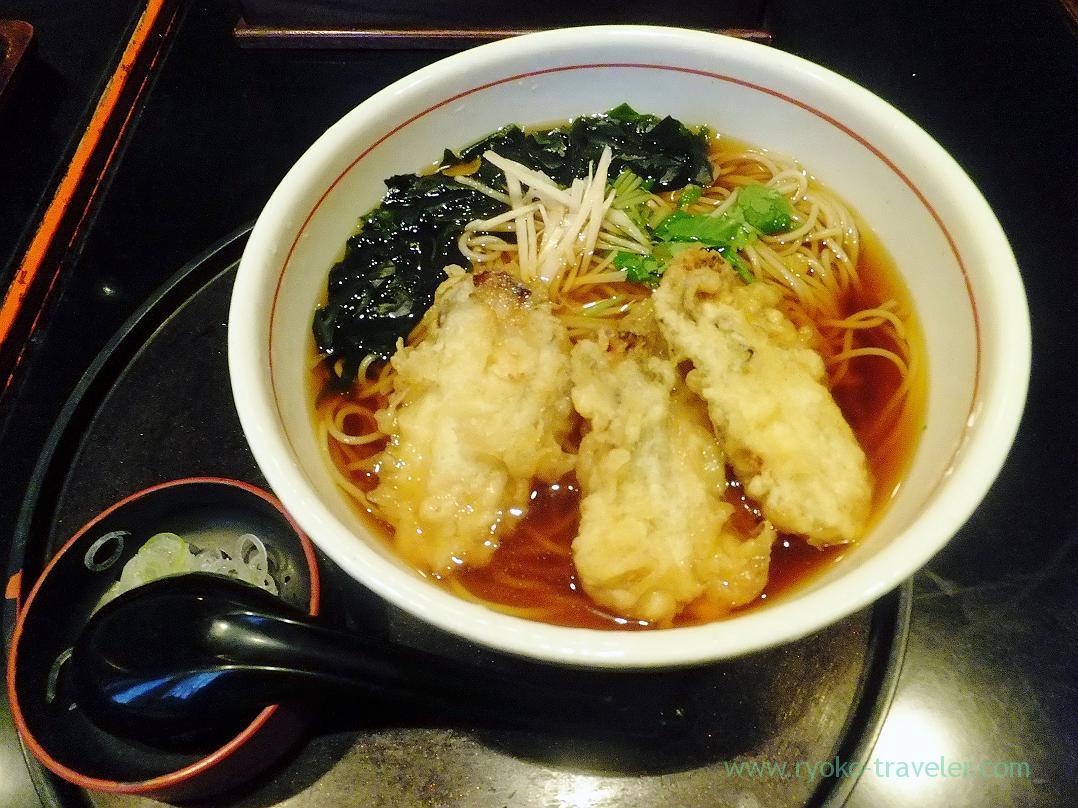 Soba with oysters tempura , Choseian (Tsukiji)