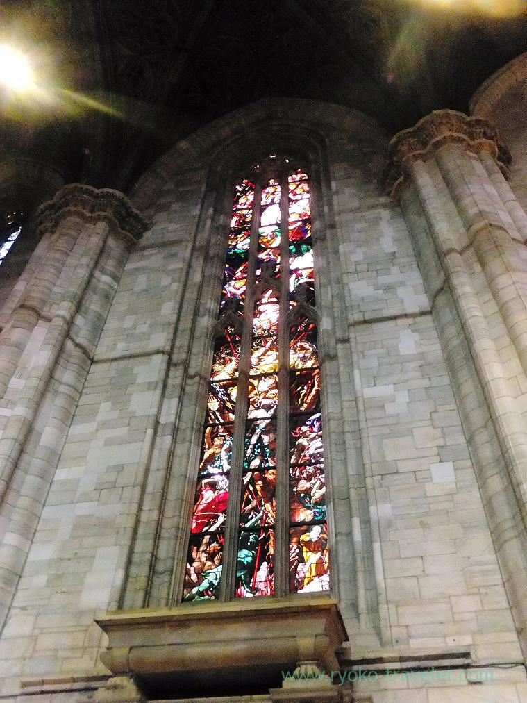 Stained glass, Duomo, Milano (Trip to italy 2015)