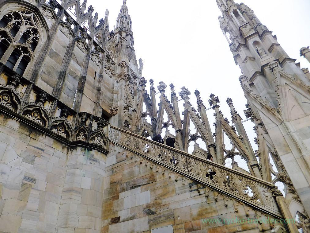 Top is still far, Duomo, Milano (Trip to italy 2015)