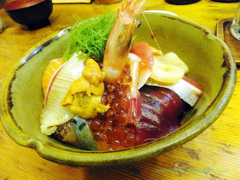 (Trip to Izu 2015 to see the earliest plum blossoms in Kanto area ) Seafood bowl2, Nishiki (Izu Atagawa)