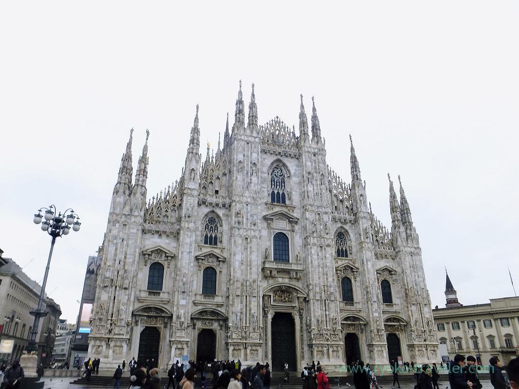 Whole view, Duomo, Milano (Trip to italy 2015)