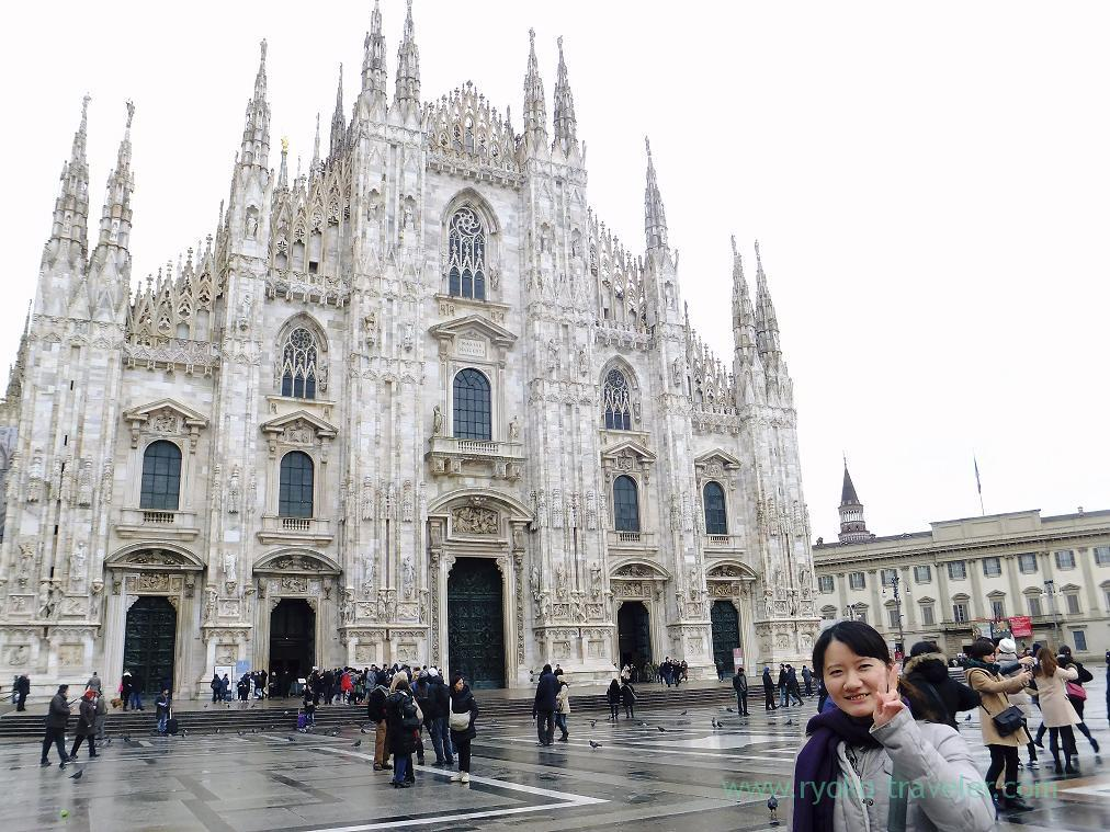 Whole view, Duomo and me, Milano (Trip to italy 2015)