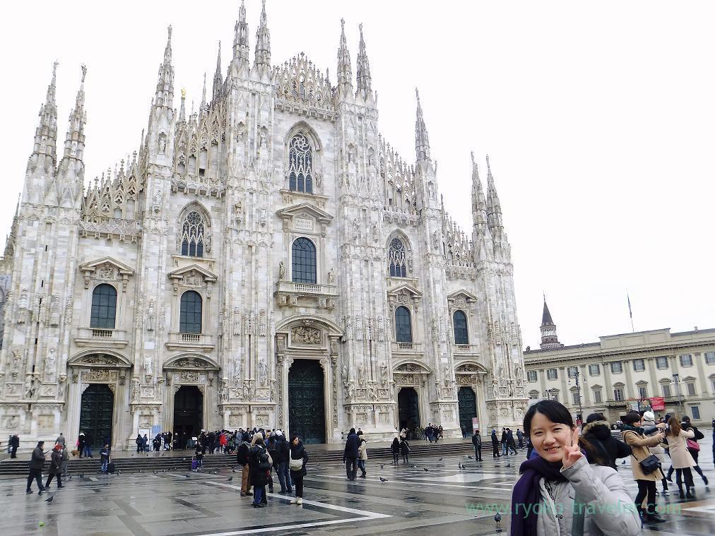 Whole view, Duomo and me, Milano (Trip to italy 2015)