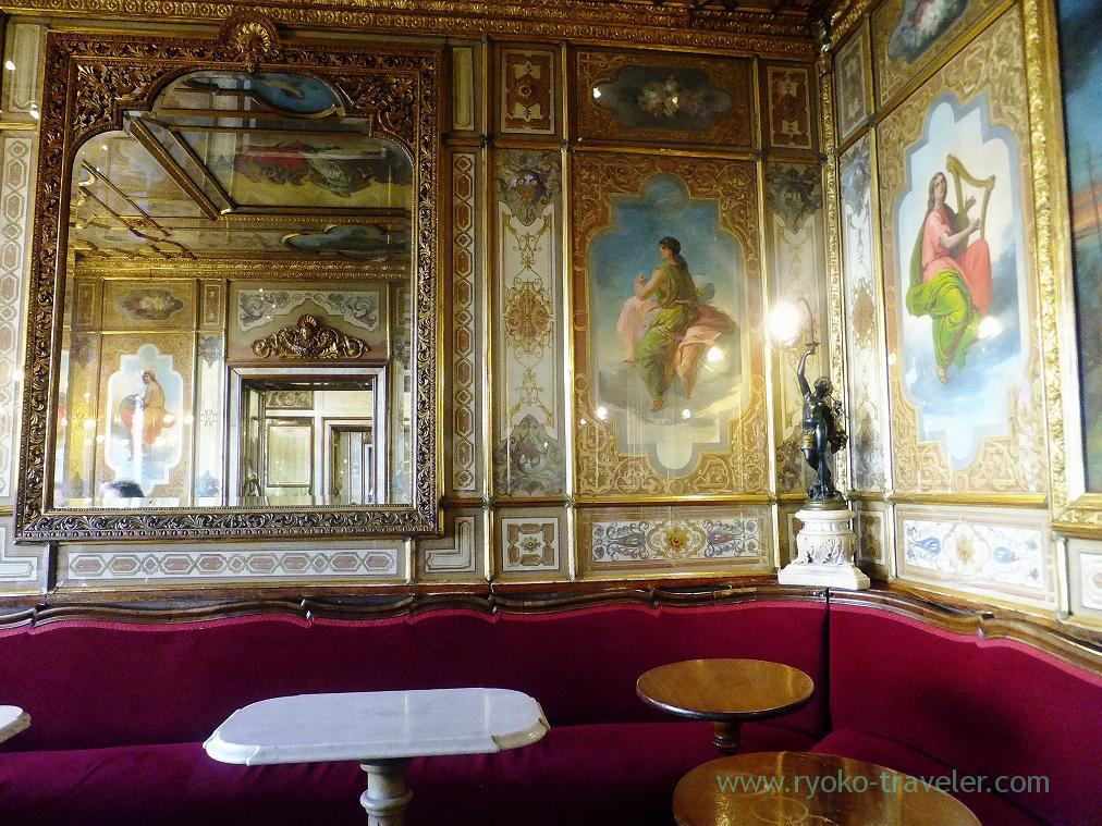 Interior,Cafe florian Venice (Trip to italy 2015)