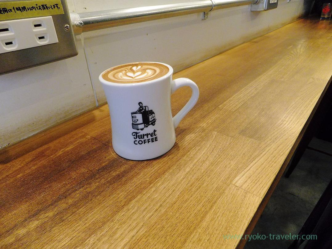 Latte on the table, Turret Coffee (Tsukiji)