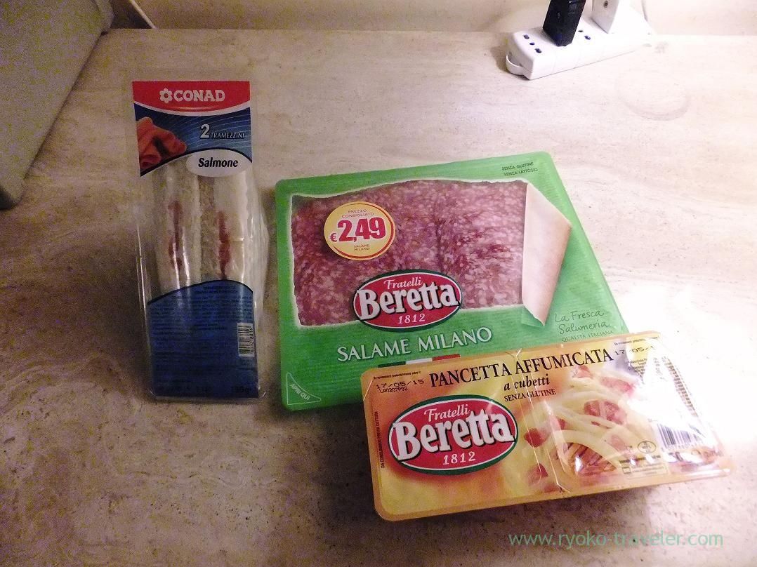 Meal,Conad, Plato (Trip to italy 2015)
