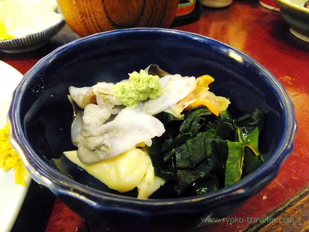 Shells sashimi, Yonehana (Tsukiji Market)