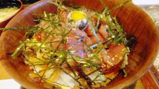 Kachidoki : Tuna yukhoe bowl close to Kachidoki sta.